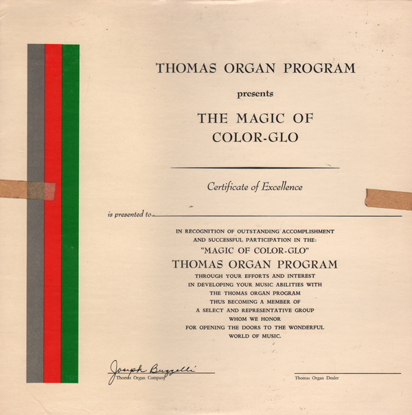 Unearthed In The Atomic Attic Thomas Organ Program