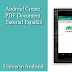 Como crear un documento PDF en Android