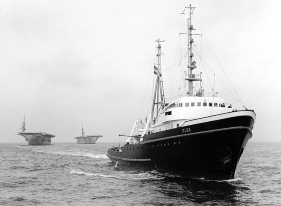 Океанский буксир Elbe до того, как стал судном Greenpeace