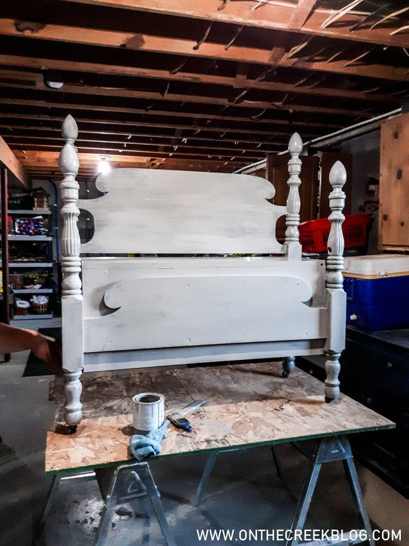 Constructing a bed frame bench | On The Creek Blog