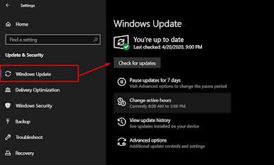 update driver melalui windows update