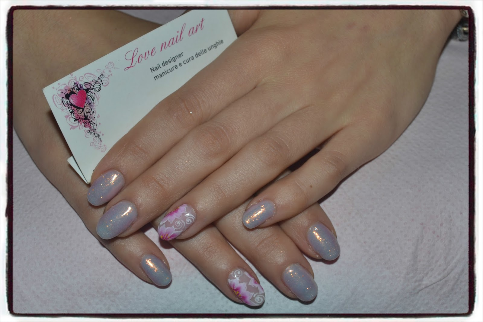 Love nail art crystal nails is all you need - Unghie polvere specchio ...