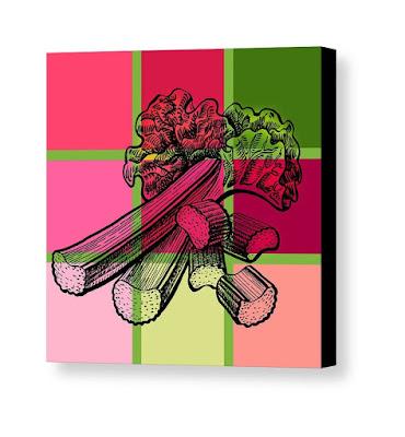 Bestselling painting of rhubarb watercolor by the artist Irina Sztukowski