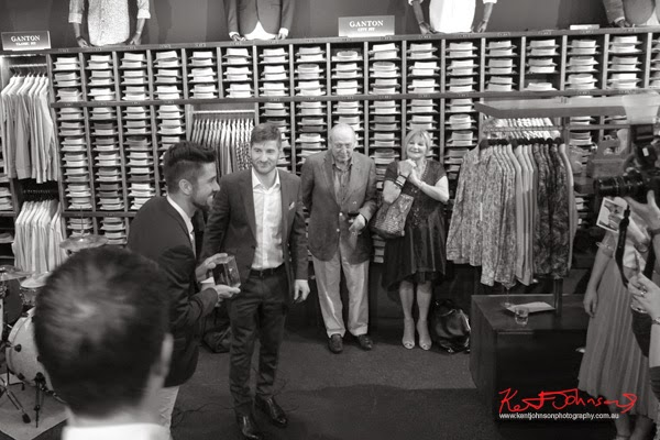 Joris Cuesta wins the Ganton Man competition at Shirt Bar Sydney - Photography by Kent Johnson.