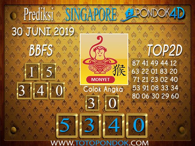 Prediksi Togel SINGAPORE PONDOK4D 30 JUNI 2019
