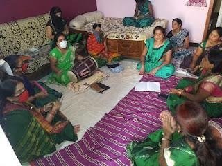 कलश स्थापना पर महिला जस मंडल का हुआ आयोजन