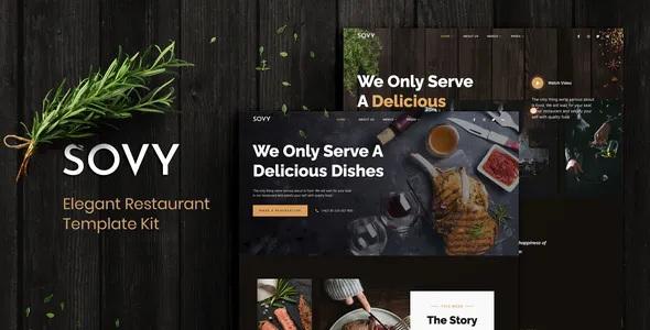 Best Restaurant Elementor Template Kit