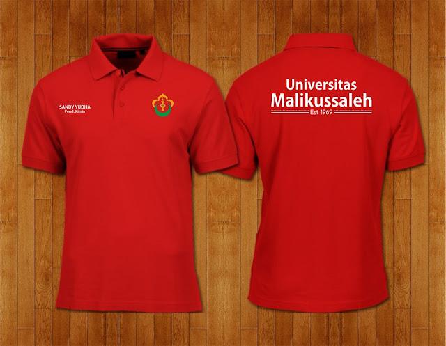 Contoh Desain Kaos Polo Universitas Malikul Saleh