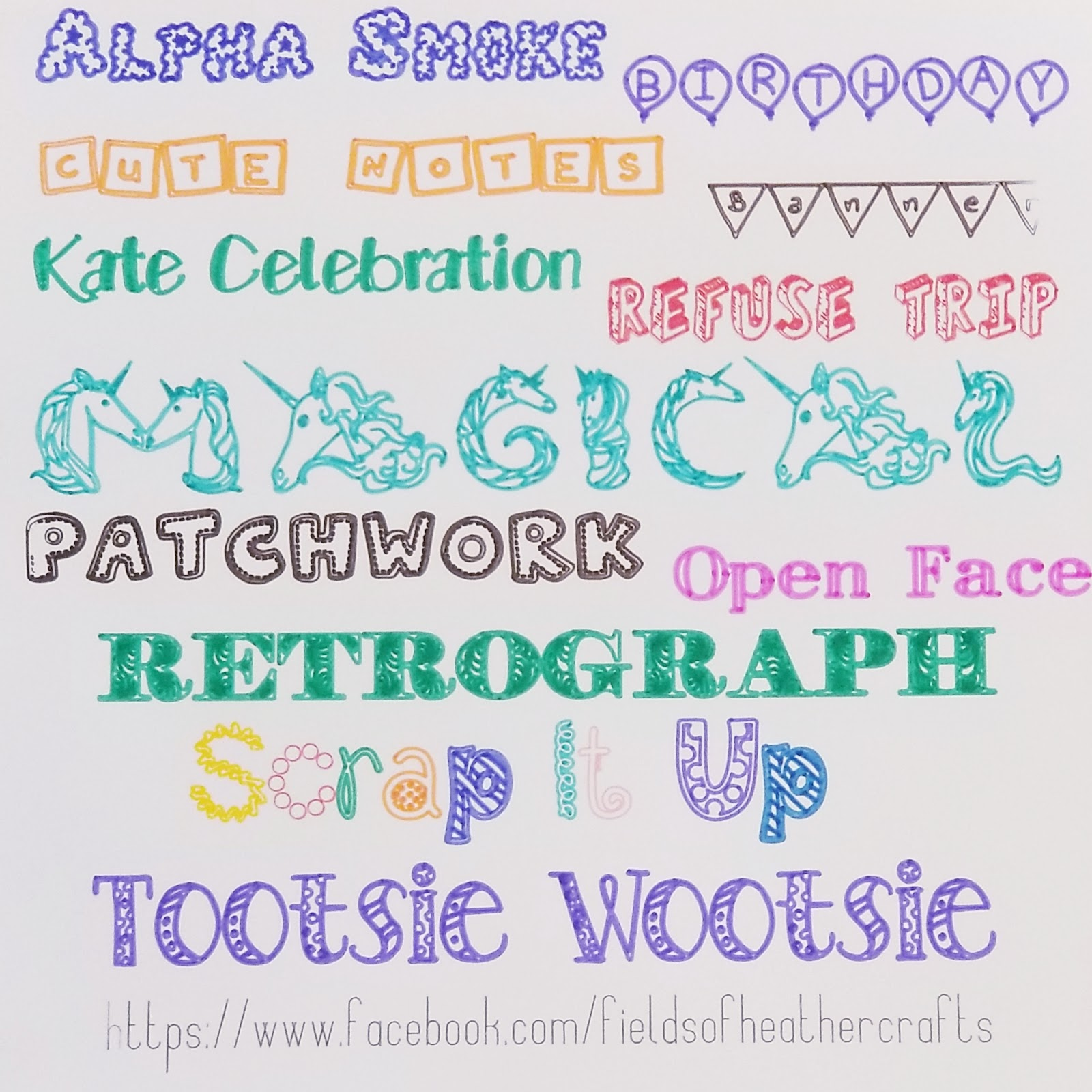 Fields Of Heather: Drawing with FUN fonts in Cricut