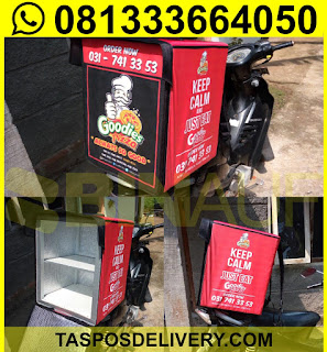 Tas delivery makanan, box delivery motor pizza goodies malang