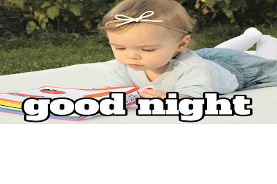 Good night image with cute baby girl, good night baby image