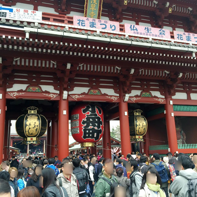 東京観光:浅草寺 提灯 小舟町