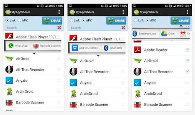 تحميل تطبيق MyAppSharer Android لنقل ومشاركة التطبيقات من هاتف الى آخر