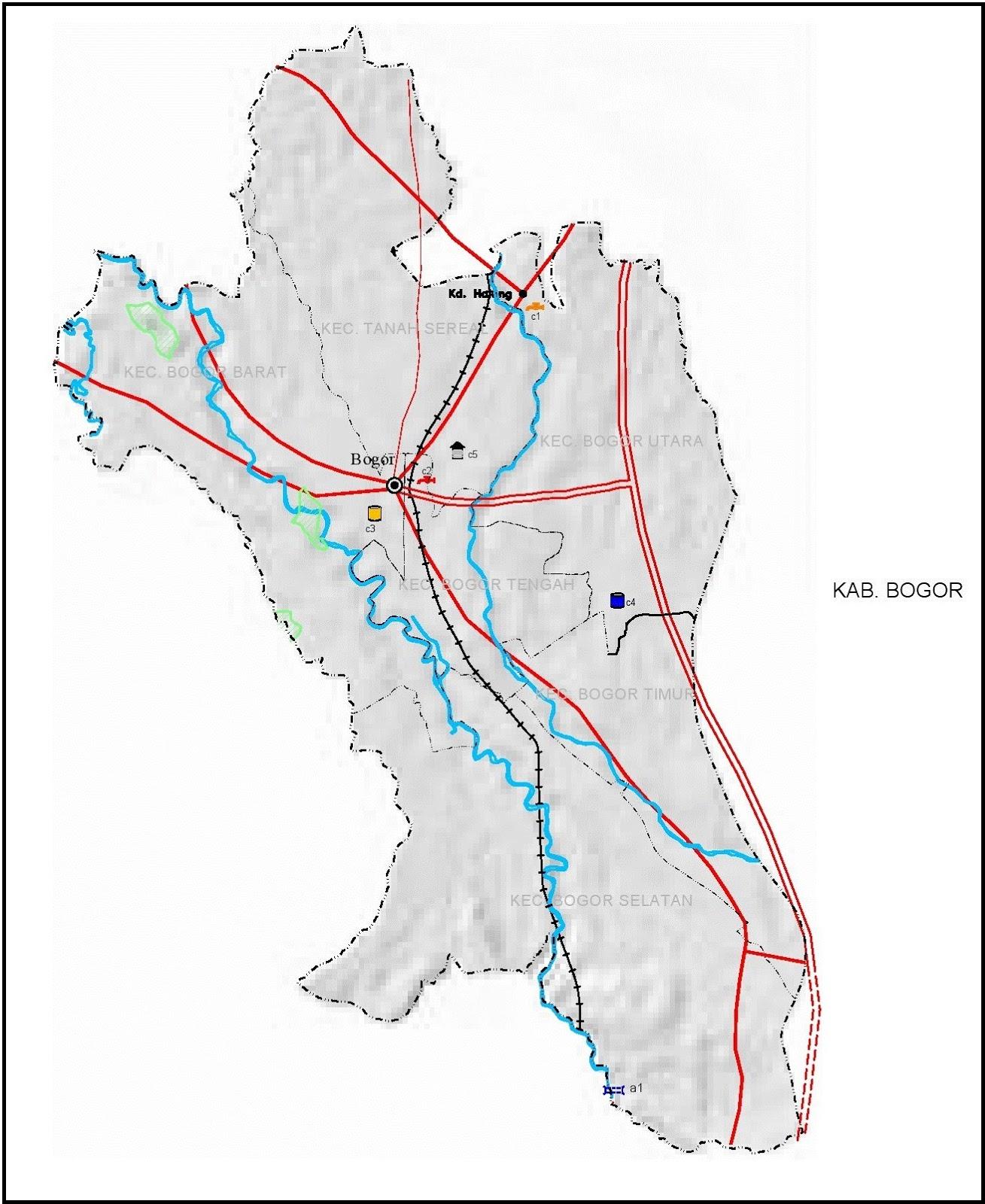 Peta Jalan di Kota Bogor