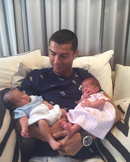 Cristiano Ronaldo shares first photo of his twin babies