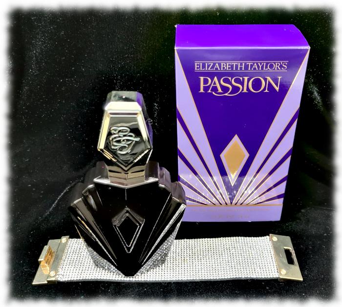 Passion bottle,box & diamante bracelet