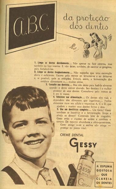 Campanha do Creme Dental Gessy que apresenta a fórmula para proteção dos dentes