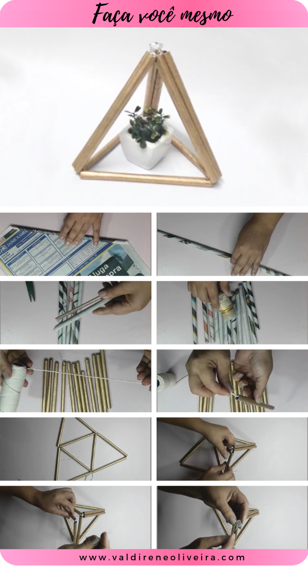 artesanato com jornal enrolado estilo pinterest