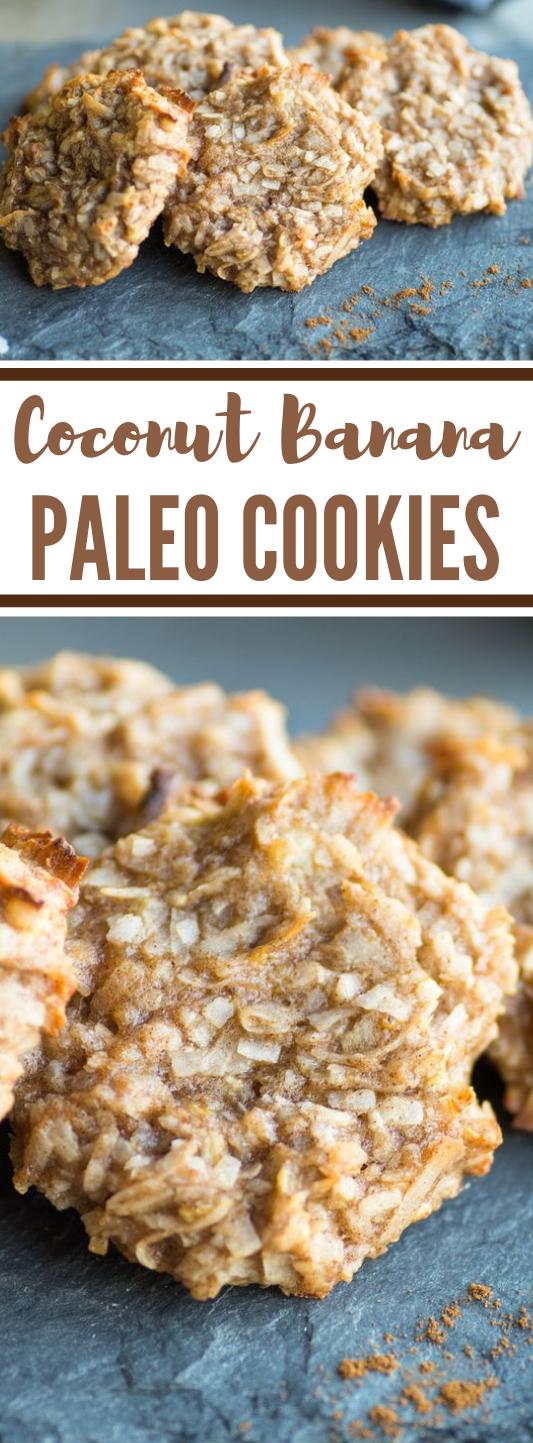 Coconut Banana Paleo Cookies #paleo #cookies #coconut #desserts #diet