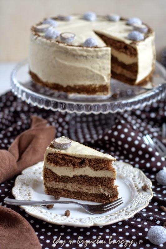 tort o smaku kawowym mocha z czekoladą