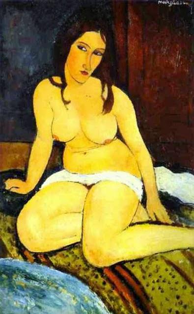 Nu Sentado ll - Amedeo Modigliani e suas pricipais pinturas