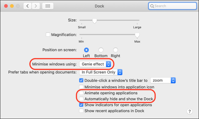 تعطيل الرسوم المتحركة على macOS لتحسين الأداء