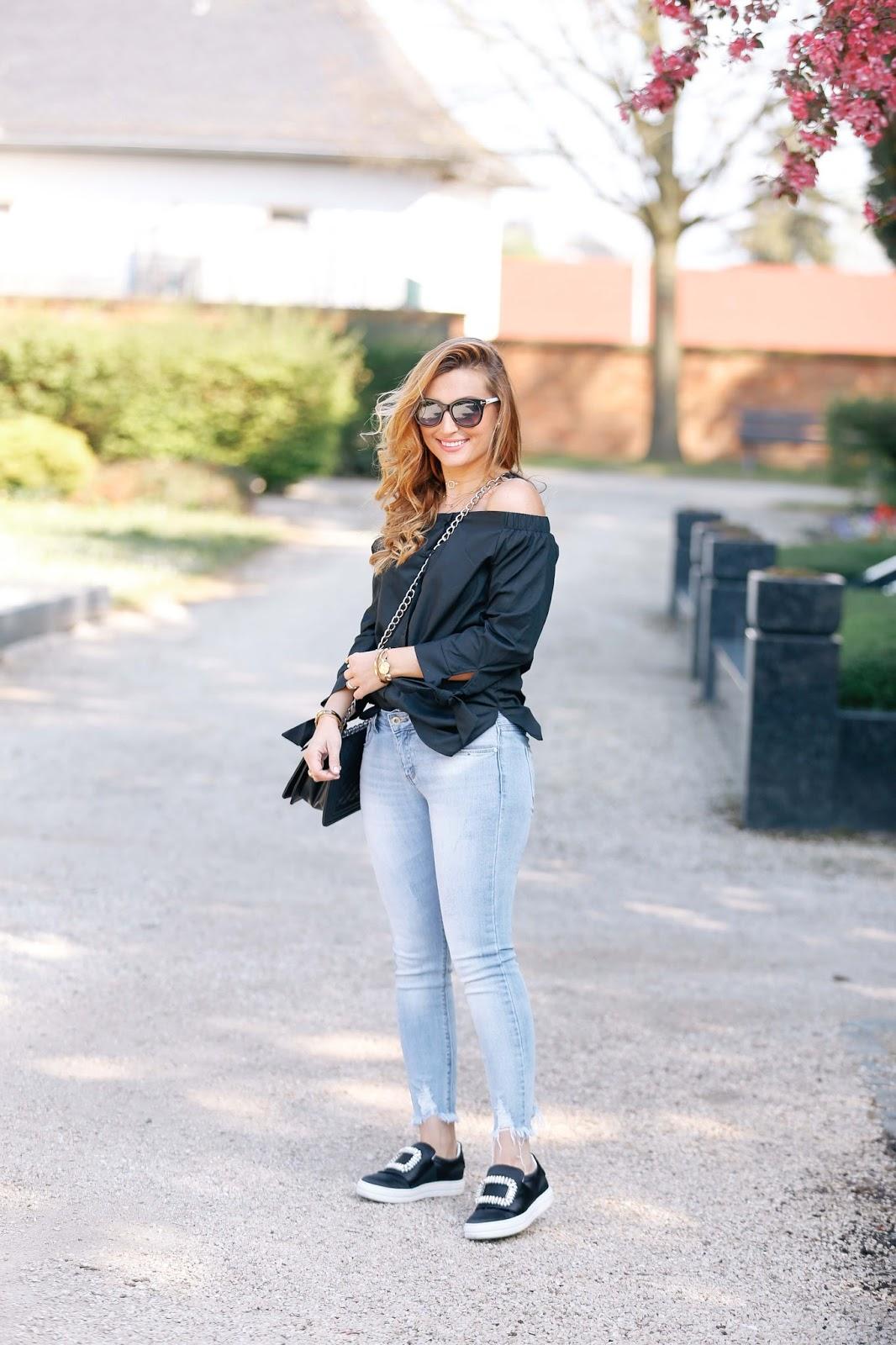 Schuhe-mit-einer-brosche-olivia-palermo-look-fashionstylebyjohanna