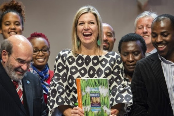 Queen Maxima attended the conference on 'The Future of Farming and Food Security in Africa' at the RABO-bank headquarters in Utrecht