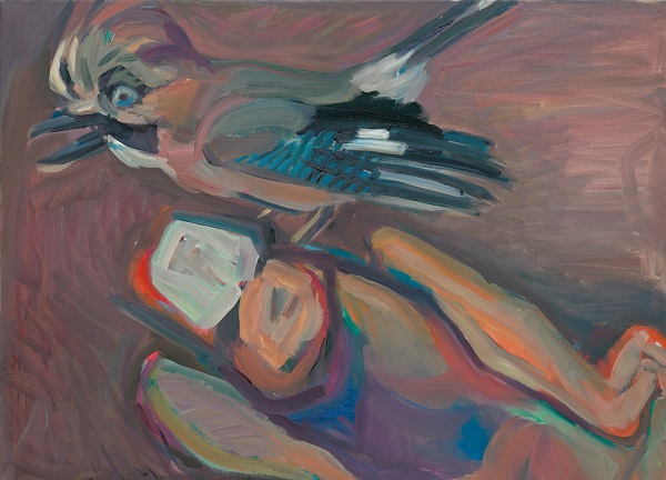 by Maria Lassnig - Ghiandaia - 1985