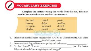 Jawaban Soal Vocabulary Exercise Hal 173-174 Chapter 13 + Terjemahan