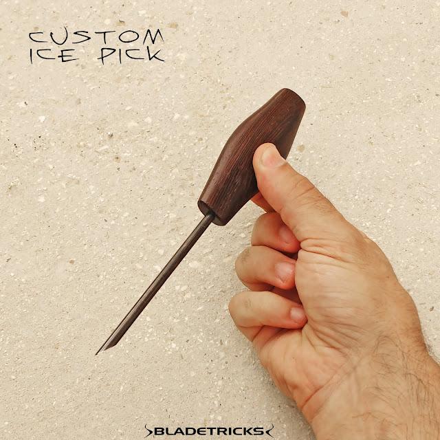 Knife maker Voodoo ice picks wenge handle