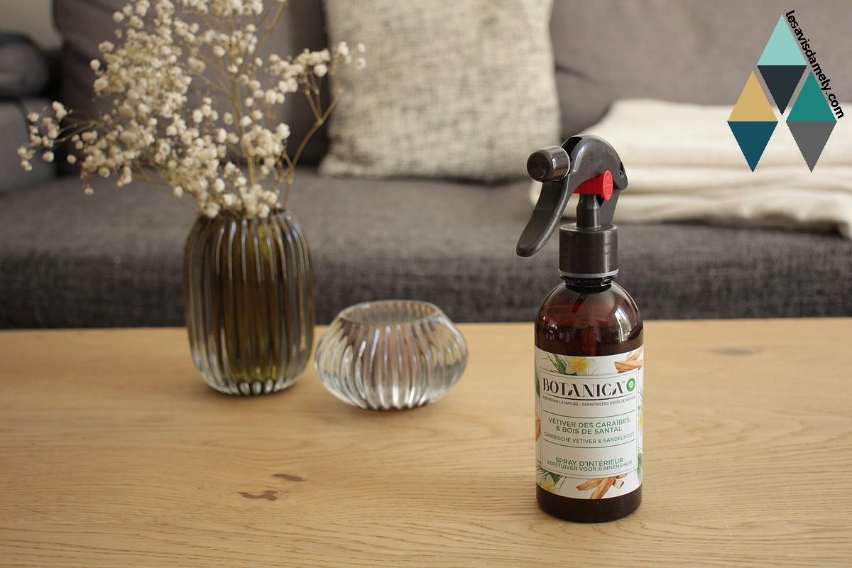 avis spray parfumé botanica vétivier bois santal