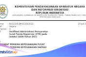 Verifikasi Administrasi Persyaratan Surat Tanda Registrasi (STR) Pada Seleksi CASN 2021