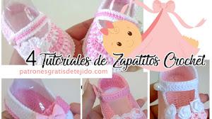 Zapatos Crochet para Niñas de 3 a 6 meses 🥰