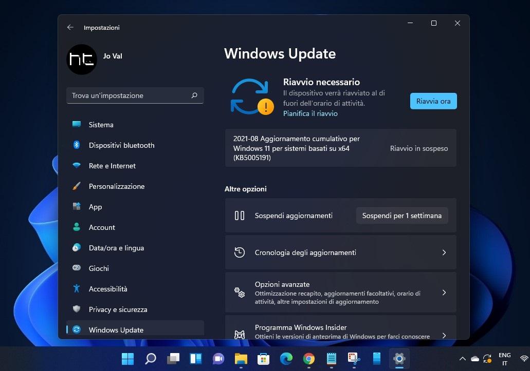 Download, installazione e novità di Windows 11 - Build 22000.168