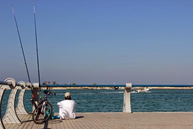 El golfo Pérsico, desde la Corniche de Abu Dabi