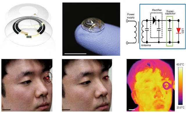 Smart contact lens recharges wirelessly without removing it from user's eye