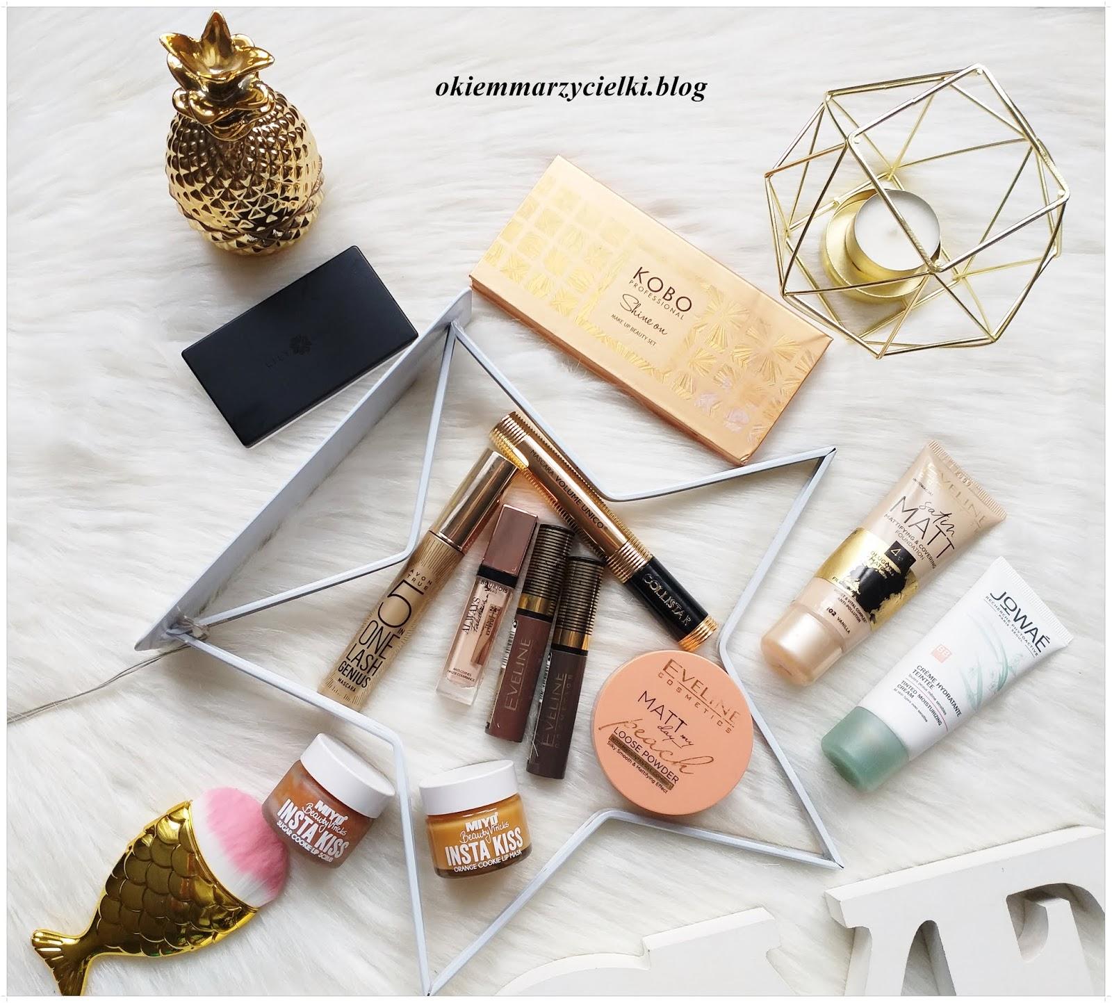 #Blogerkipolecaja: Przegląd aktualnie używanych kosmetyków kolorowych. Jak wygląda mój codzienny makijaż?| Kolorowe kosmetyki z mojej kosmetyczki :)