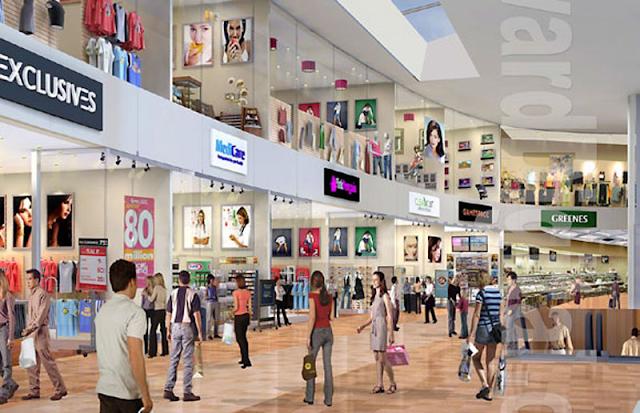 Các gian hàng mua sắm tại trung tâm thương mại ECO LAKE VIEW