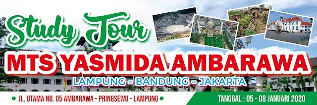 Desain Banner Study Tour Lampung Bandung Jakarta