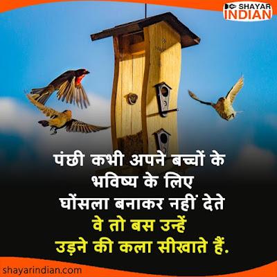 भविष्य पर सुविचार, Future Motivational Quotes on Birds in Hindi
