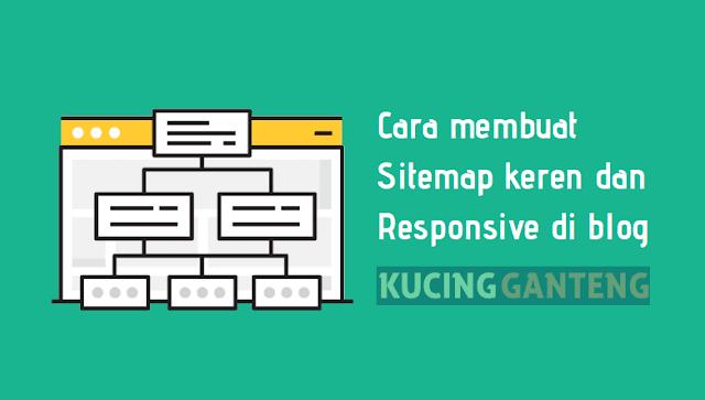 Cara Memasang Sitemap Keren dan Responsive di Blogspot