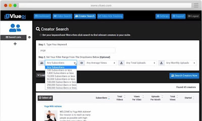 vlueo-youtube-creators-search