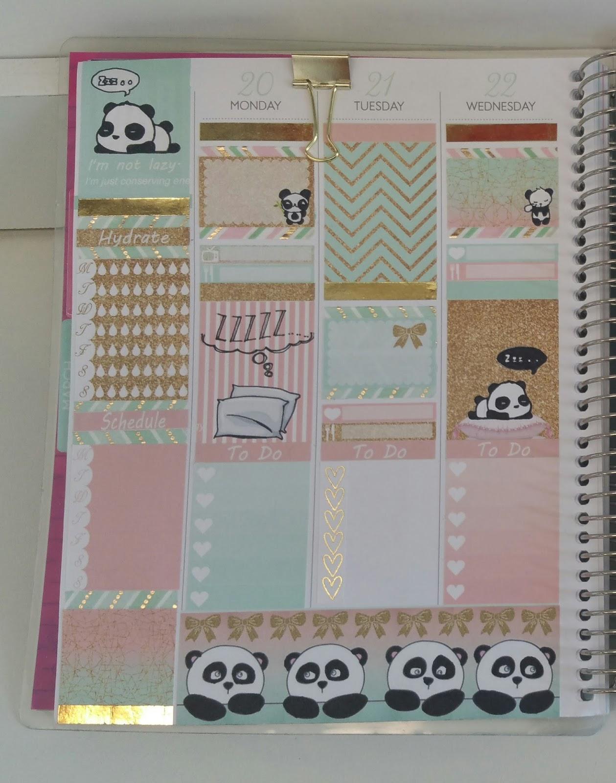 Free Lazy Panda printable spread for the Erin condren ...