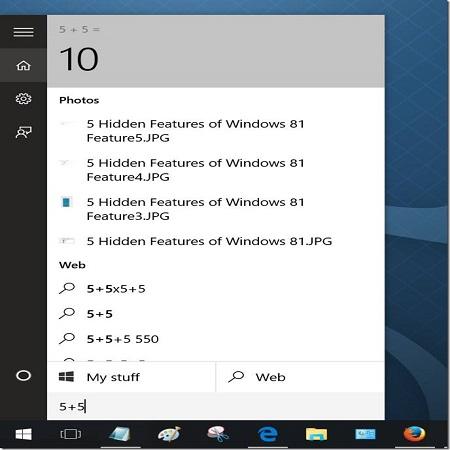 Using the Start Menu as Calculator In Windows 10