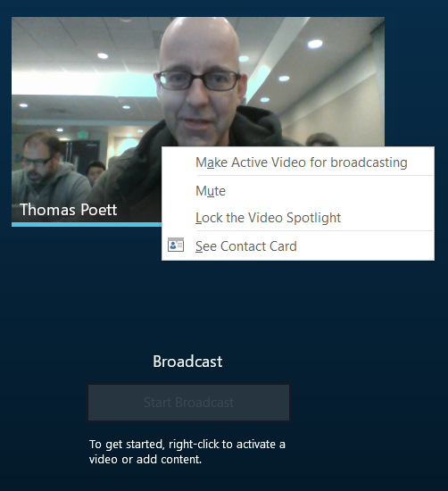 Setup Broadcast Meetings in Skype for Business