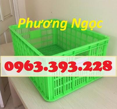 Sóng nhựa hở HS014, sọt nhựa rỗng công nghiệp, sọt nhựa đựng hàng hóa SR252