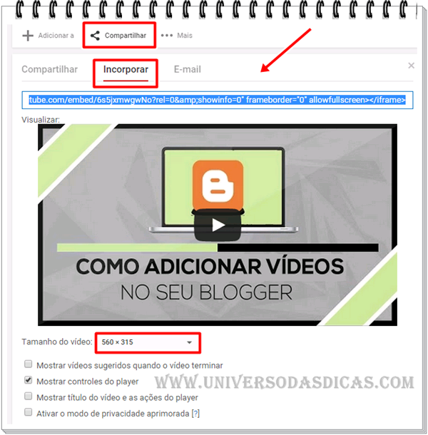 Como colocar vídeos no Blogger