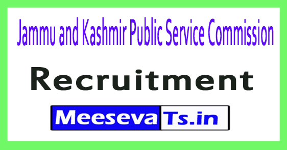 Jammu and Kashmir Public Service Commission JKPSC Recruitment Notification