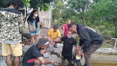 Polda Jateng Berikan Pelatihan Ternak Lele Pada Mahasiswa Papua